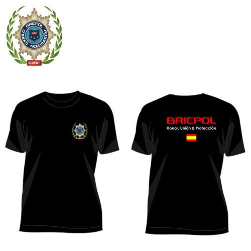 Camiseta de Bricpol honor fuerza y protección