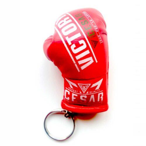 llavero de guante de boxeo cesar rojo