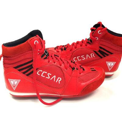 bota de cesar roja