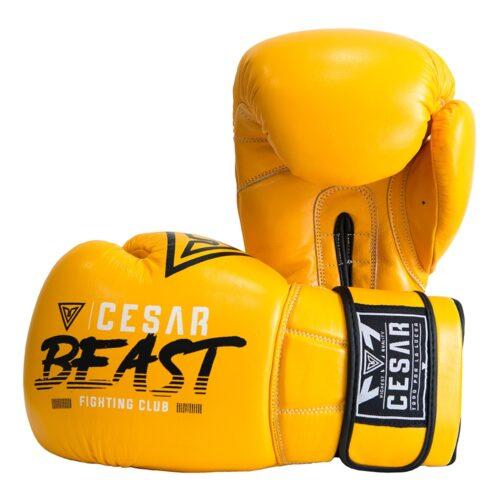 guantes de boxeo cesar beast amarillos