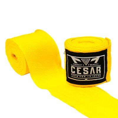 Vendas de boxeo amarillas de algodon semielastico de la mayor calidad cesar contact