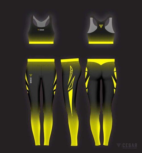 leggins deportivos de alto rendimiento amarillos
