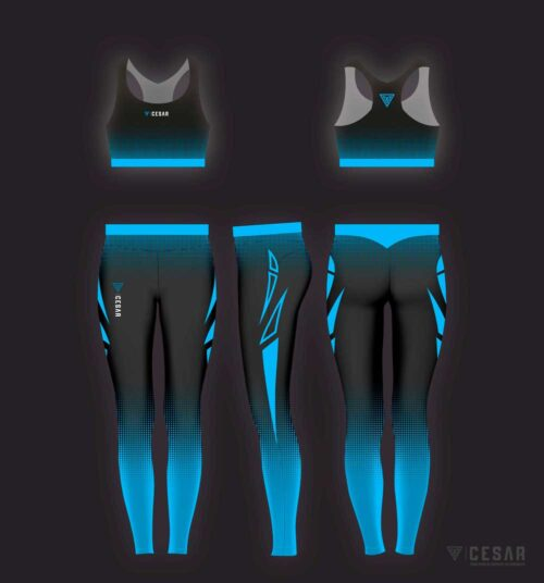 leggins deportivos azules