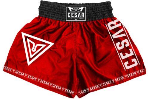 shorts de kick boxing cesar rojos
