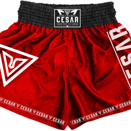 shorts de kick boxing cesar rojos