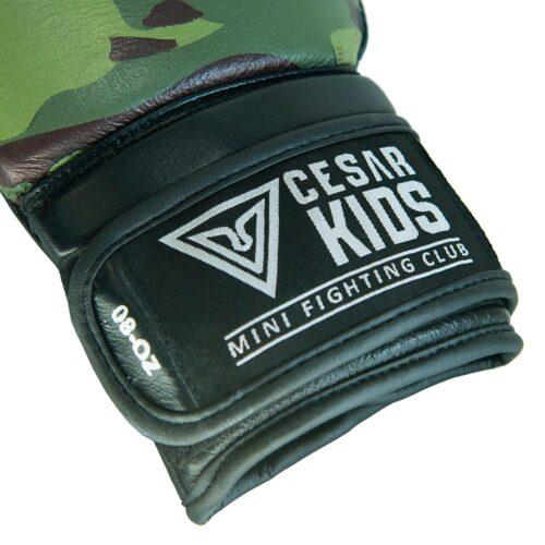 etiqueta de cesar kids en guantes de boxeo infantil de alta calidad