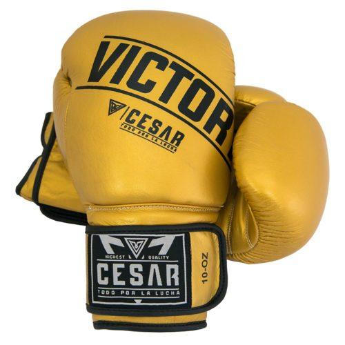 guantes de boxeo dorados
